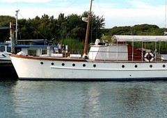 classic silver 52 motor-yacht for sale in germany for 180,000